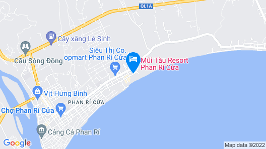 Mui Tau Resort Phan Ri Cua Map