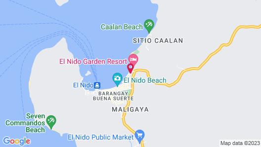El Nido Beach Hotel Map