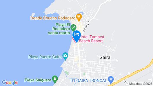 Hotel Tamacá Beach Resort Map