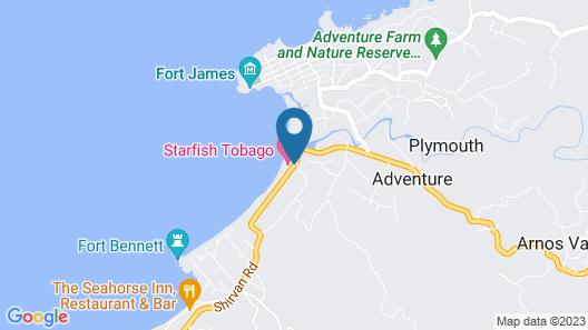 Starfish Tobago Resort Map