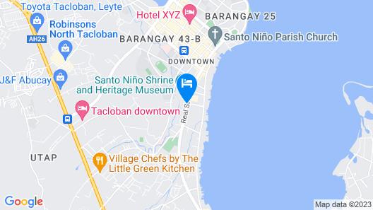 RedDoorz @ Real Street Tacloban Map