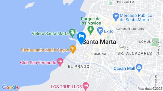 Hilton Garden Inn Santa Marta Map