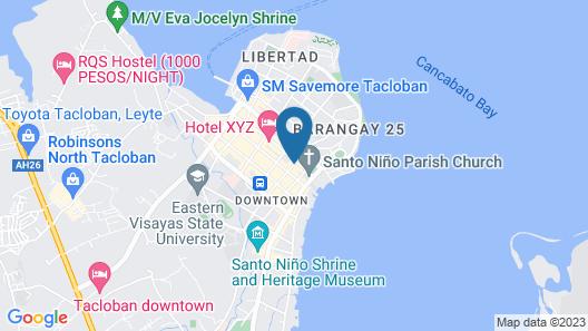 Hayward Travel Inn Map