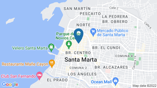 Hotel Catedral Plaza Map