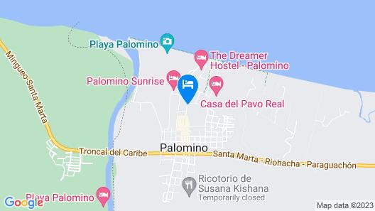 Cabañas Vacacionales En Palomino Guajira Map