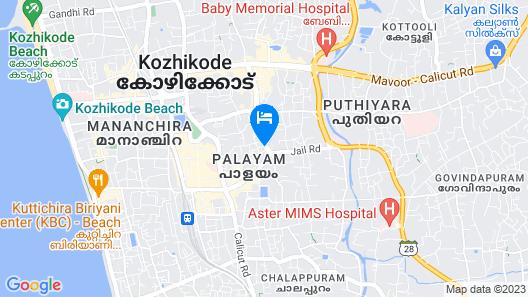 Keys Select Hotel Malabar Gate, Kozhikode Map