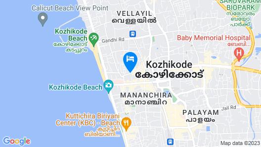 The Gateway Hotel Beach Road Calicut Map