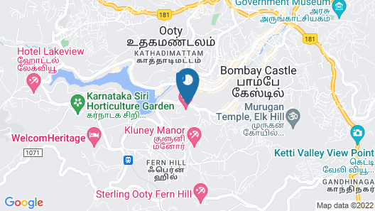 Club Mahindra Derby Green, Ooty Map