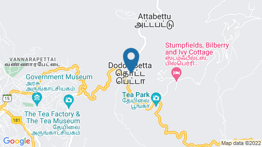 Highland Hotel Ooty Map