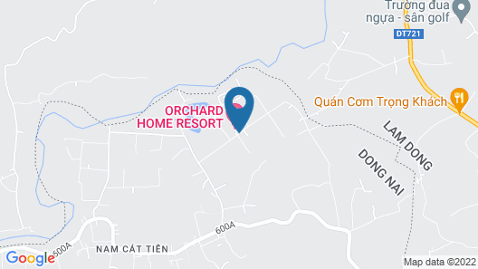 Orchard Home Resort Nam Cat Tien Map
