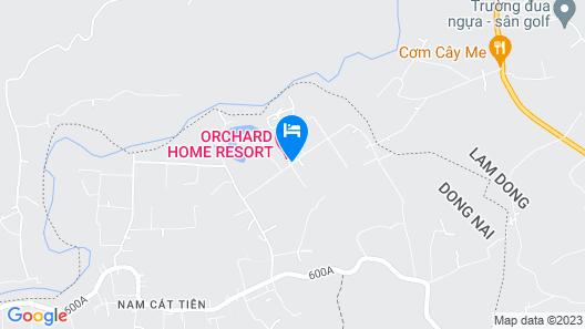 Orchard Home Resort Nam Cat Tien Map