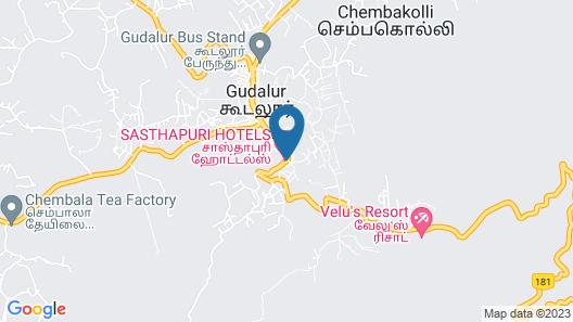 Sasthapuri Hotels Map