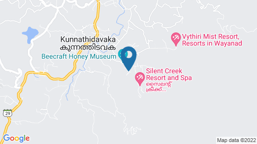 Vythiri Holiday Resorts Map