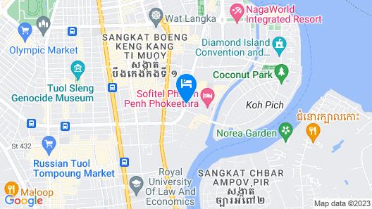 Sofitel Phnom Penh Phokeethra Map