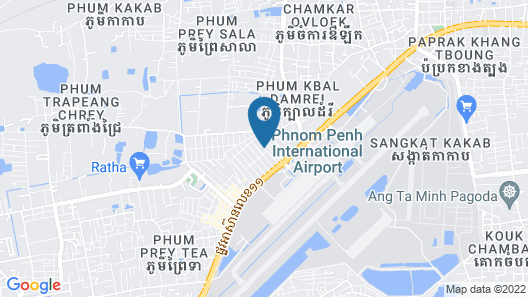 Hang Pich Airport Guesthouse Map