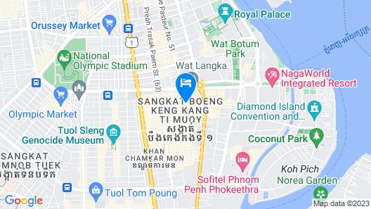 Patio Hotel & Urban Resort Map