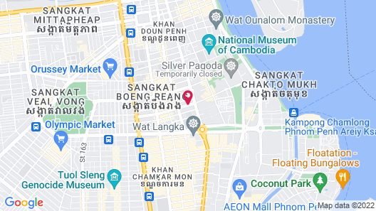 Aquarius Hotel & Urban Resort Phnom Penh Map