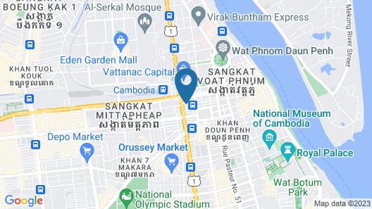 Nokor Lucky Serviced Apartments Map