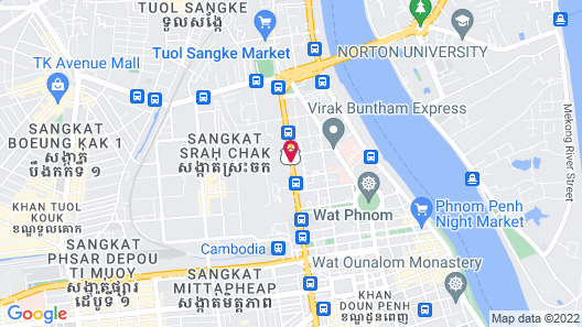 Phnom Penh Hotel Map