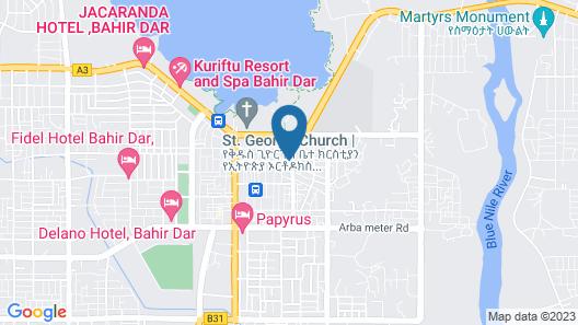 Blue Nile Resort Map