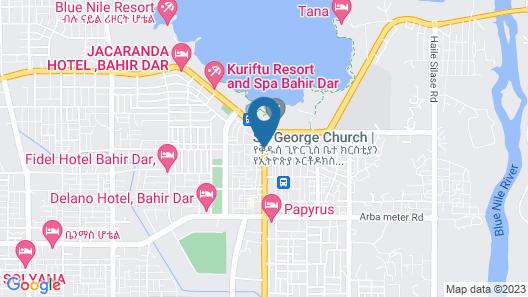 Wynn Hotel - Bahir Dar Map