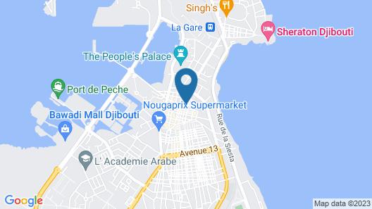 Capital Hotel Djibouti Map