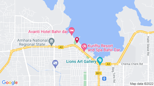 Grand Resort & Spa- Bahir Dar Map
