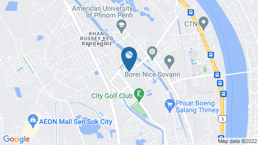 Guesthouse SAGAMI Cambodia - Hostel Map