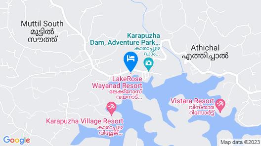 LakeRose Wayanad Resort Map