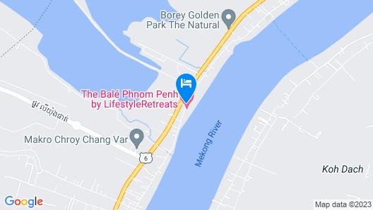 The Bale Phnom Penh Resort Map