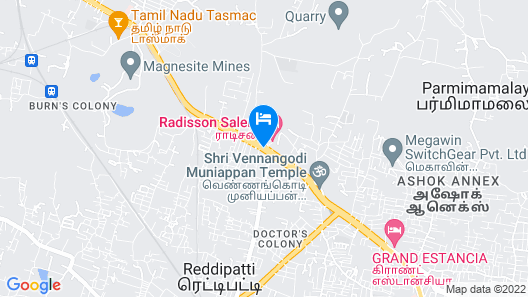 Radisson Salem Map