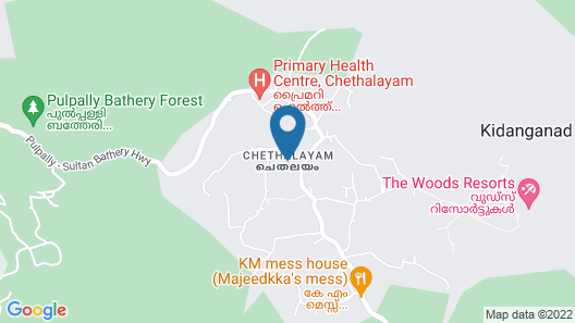 The Woods Resorts Wayanad Map