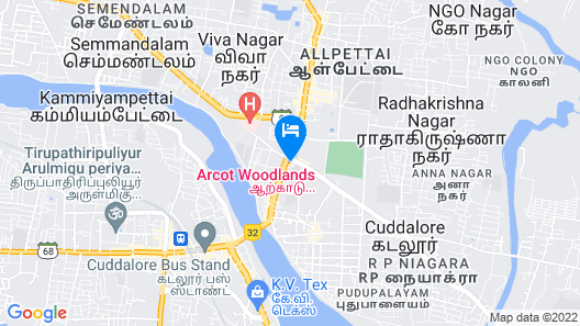 Arcot Woodlands Hotel Map