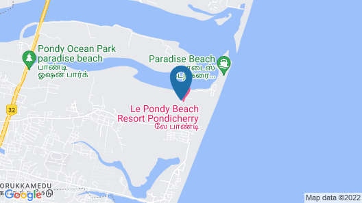 Le Pondy Beach & Lake Resort Map