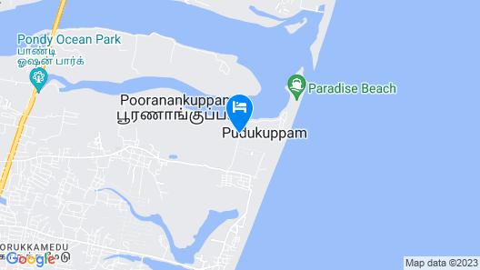 Le Pondy Beach & Lake Resort Map