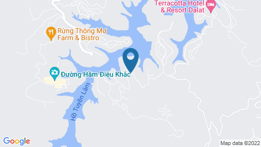 Dalat Edensee Lake Resort & Spa Map