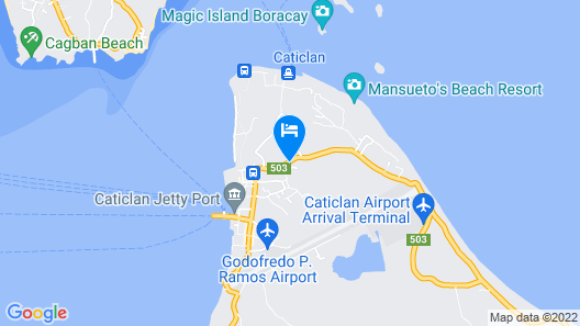 Centillo Travellers Inn Map