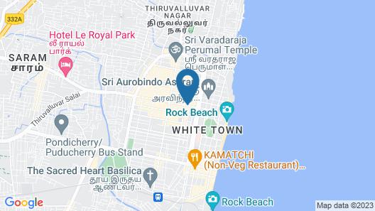 Treebo Trip Red Lotus Heritage Pondicherry Map