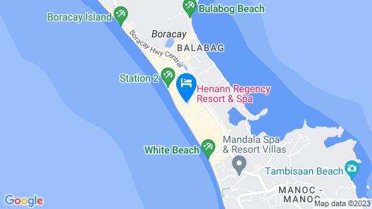 Henann Regency Resort & Spa Map