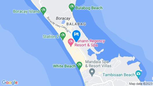 Henann Lagoon Resort Map