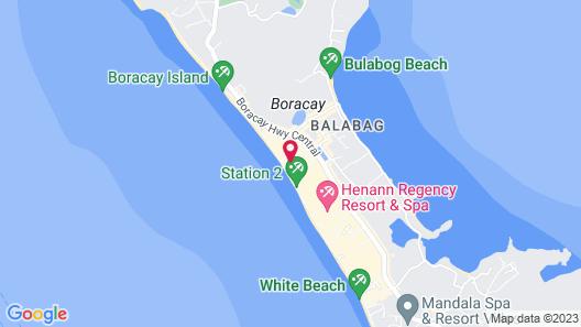 Henann Crystal Sands Resort Map