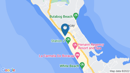Red Coconut Beach Hotel Map