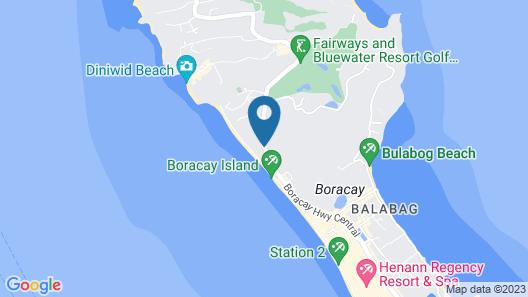 Fridays Boracay Resort Map