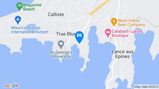True Blue Bay Resort Map