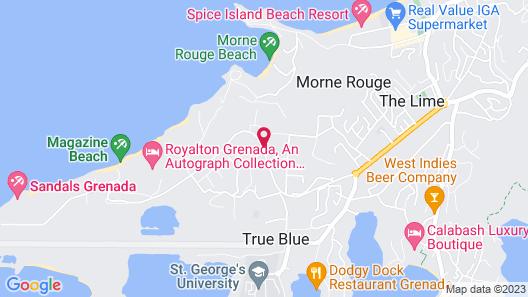 Point Salines Hotel Map
