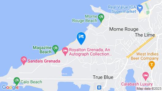 Grooms Beach Villa & Resort Map