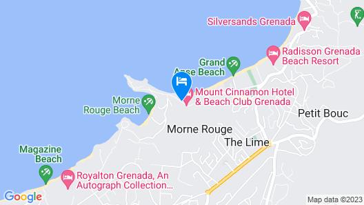 Mount Cinnamon Grenada Map