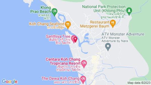 Santhiya Tree Koh Chang Resort Map
