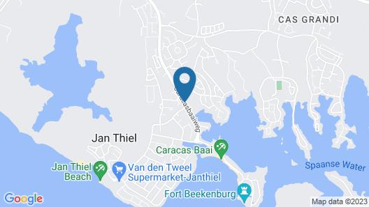 Bed & Bike Curacao - Jan Thiel Map