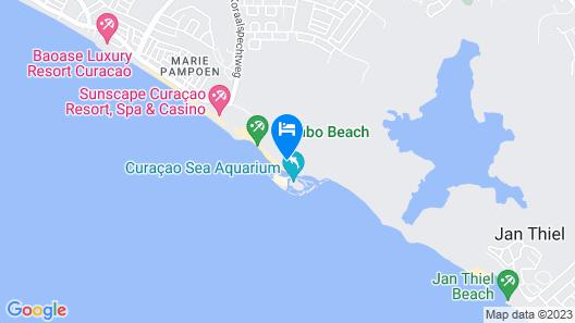 LionsDive Beach Resort Map